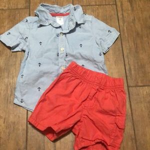 Boys shirt/short set - Size 12M